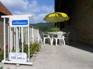 Terrasse du gite La Moutena.
