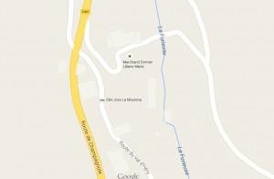 Plan d'accès gite La Moutena.